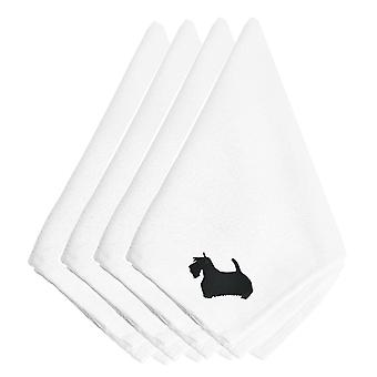Carolines Treasures  BB3469NPKE Scottish Terrier Embroidered Napkins Set of 4
