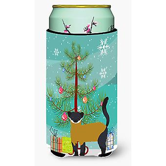 Yellow-Throated Marten Christmas Tall Boy Beverage Insulator Hugger