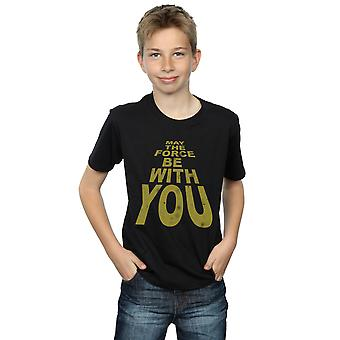 Star Wars Boys May The Force Be With You T-Shirt