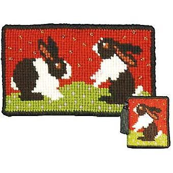 Rabbits Needlepoint Kit