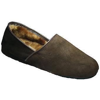 Mirak David Suede Slip-On Slipper / Mens Slippers / Classic Mens Slippers