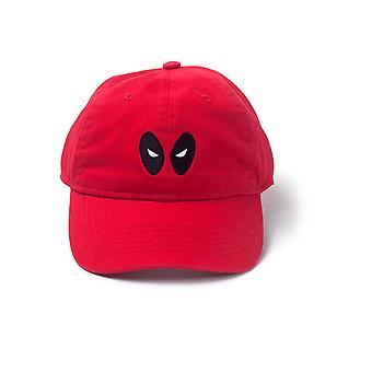 Marvel Comics Deadpool brodé yeux Stone Washed Denim papa Cap Rouge
