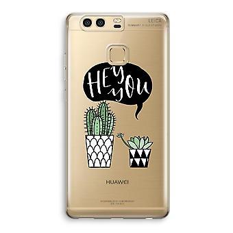 Huawei P9 Transparent Case (doux) - Hey vous cactus