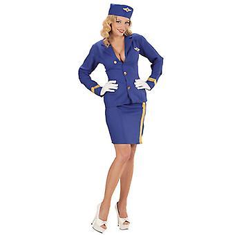 Comissária de bordo (jaqueta saia Sidecap)