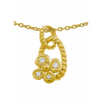 Orphelia Silver 925 Chain With Pendant Goldplated Zirconium  ZH-6020/2