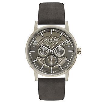 Kenneth Cole New York mannen pols horloge analoog kwarts leder KC15203002