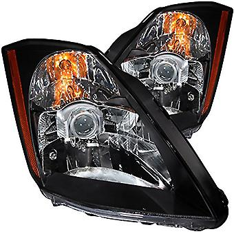 Anzo USA 121108 Nissan 350Z Crystal Black Headlight Assembly - (Sold in Pairs)