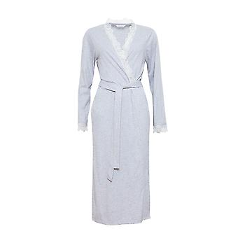 Cyberjammies 1290 Women's Nora Rose Ava Grey Dressing Gown Loungewear Bath Robe Robe