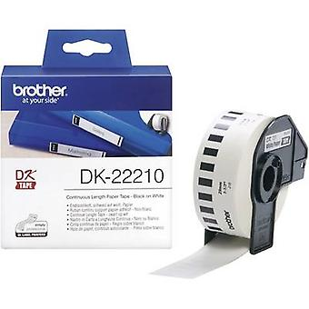 Brother DK-22210 Label roll 29 mm x 30.48 m Paper White 1 pc(s) Permanent DK22210 All-purpose labels
