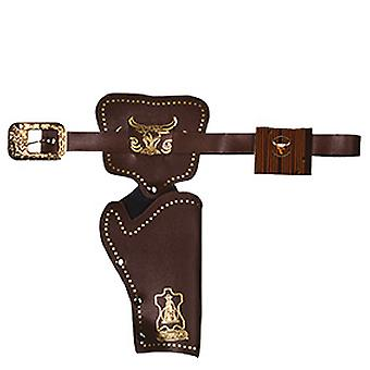 Colt bælte 1 lomme pistol pose mørke brun cowboy hylster tilbehør