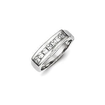 925 Sterling Silber solide poliert CZ Zirkonia simuliert Diamant Ring Größe 6 Schmuck Geschenke für Frauen