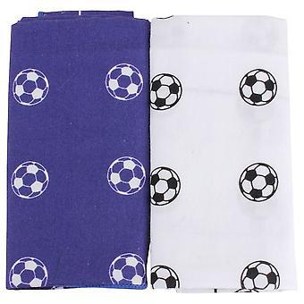 David Van Hagen Football Handkerchief Set - Blue/White