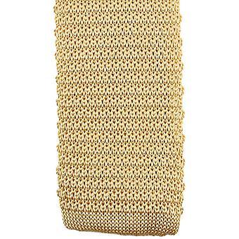 Knightsbridge kaulavaatteita neulottu solmio - kulta