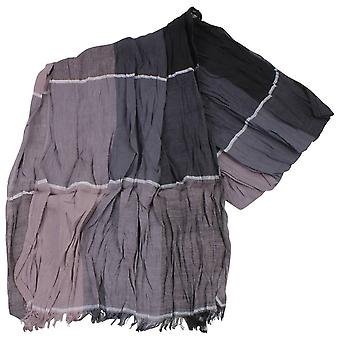 Knightsbridge Neckwear блока хлопок шарф - бежевый/серый/черный