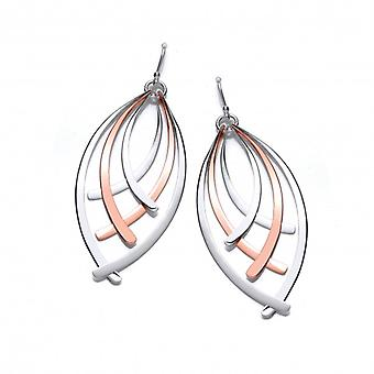 Cavendish French Silver and Copper Fan Earrings