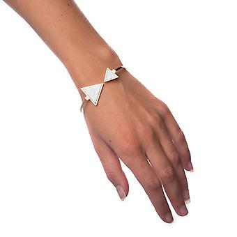Bracelet White Marble-Triangle