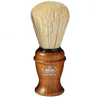 Omega Pig Hair box mango cepillo de afeitar