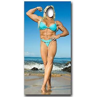 Muscle Woman Stand-In - cartone Lifesize ritaglio / Standee