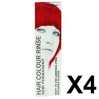 Semi Permanent Hair Dye by Stargazer - Rouge x 4  Packs