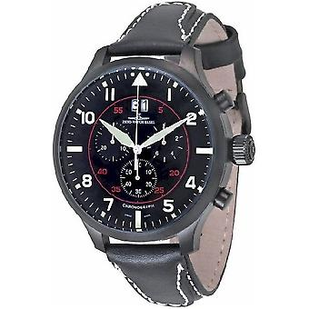 Zeno-Watch Herrenuhr SOS Chrono Navigator black 6221N-8040Q-bk-a1