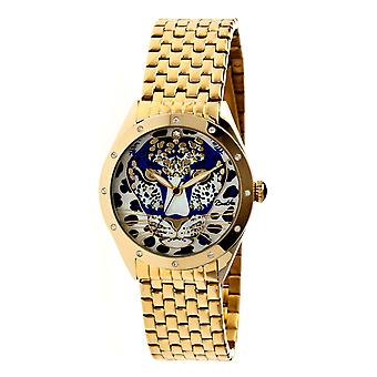 Bertha Alexandra MOP Ladies Bracelet Watch - Gold/Blue