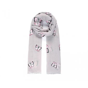 Intrigue Womens/Ladies Butterfly Embroidered Scarf