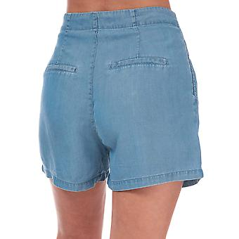 Womens Vero Moda Mia High Rise lâche shorts d'été en denim bleu clair