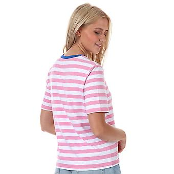 Womens Only Live Love Stripe T-Shirt In Prism Pink