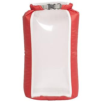 EXPED red Fold Drybag Clear Sight 8L