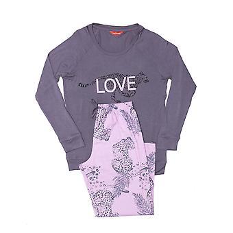Minijammies 5487 Girl's Laura Grey Modal Pyjama Set