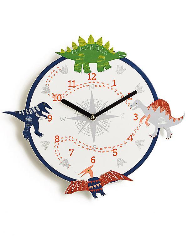 Dino Doodles Dinosaur Wall Clock
