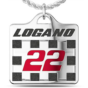 Joey Logano Pendant Necklace In Sterling Silver Design by BIXLER