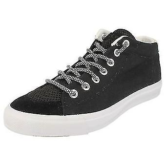 NEW SCHOOL. PONY MENS CANVAS SHOES IN BLACK