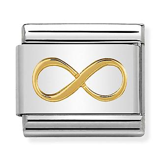 Nomination Classic Infinity Steel and 18k Gold Link Charm 030162/41