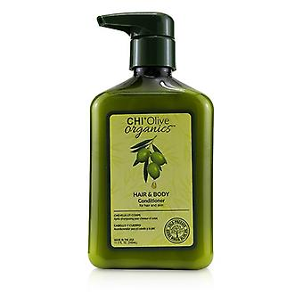 Chi Olive Organics Hair & Body Conditioner (for Hair And Skin) - 340ml/11.5oz