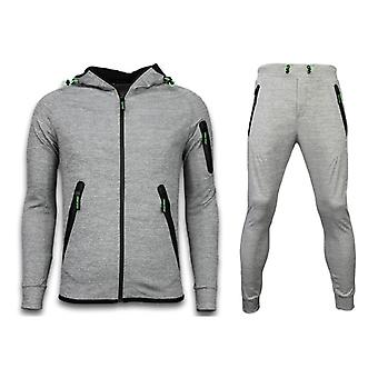 Tracksuits Basic - Neon Ropes Jogging Suit - Cinza
