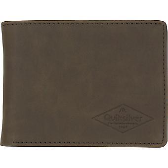 Quiksilver mens slanke Vintage III Bi-fold Portemonnee-chocolade bruin