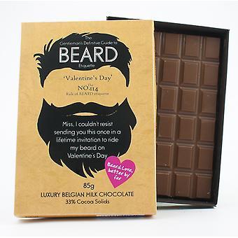 Regalo divertido día de San Valentín para hombres barbudos Barba Amante presente chocolate tarjeta de felicitación BTQ126