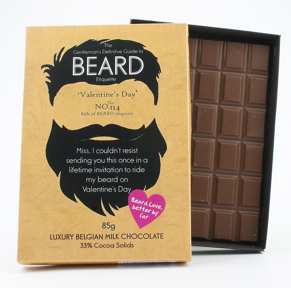Funny Valentine's Day Gift for Bearded Men Beard Lover Present Chocolate Greeting Card BTQ126