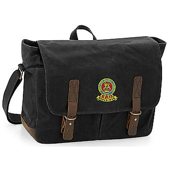 15ème 19ème Royal Kings Hussars Colour - Licensed British Army Embroidered Waxed Canvas Messenger Bag