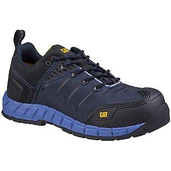Caterpillar Mens Byway Lace Up Safety Trainer BLUE NIGHTS