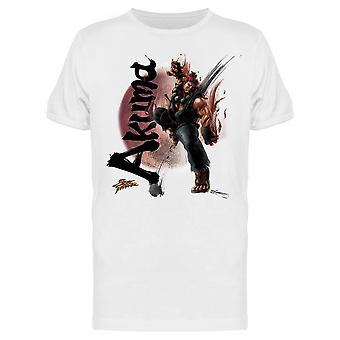 Street Fighter Akuma personagem tee Men ' s-Capcom designs