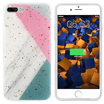 BackCover Marble Glitter för Apple iPhone SE 2020 - 8 - 7 Grå