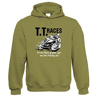 TT Races, Retro Motorcycle Hoodie - Motorfietsen Gift Him haar verjaardag