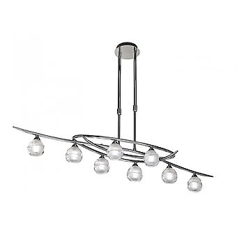 Mantra Loop Telescopic 8 Light G9 ECO Line, Polished Chrome