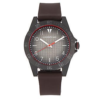 MORPHIC M84 serie horloge-donker bruin