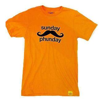 Team phun sunday phunday tee shirt neon orange