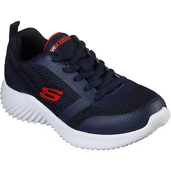 Skechers Boys Bounder Lightweight Lace Up Trainers Shoes