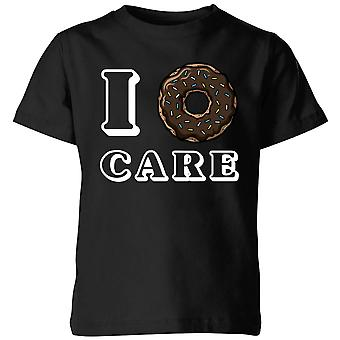 I Donut Care Kids T-Shirt - Black