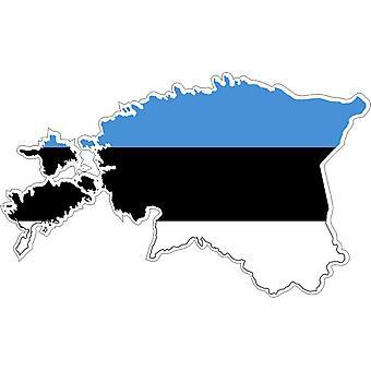 Sticker Sticker Adhesif Vinyl Car Flag Map Estonia